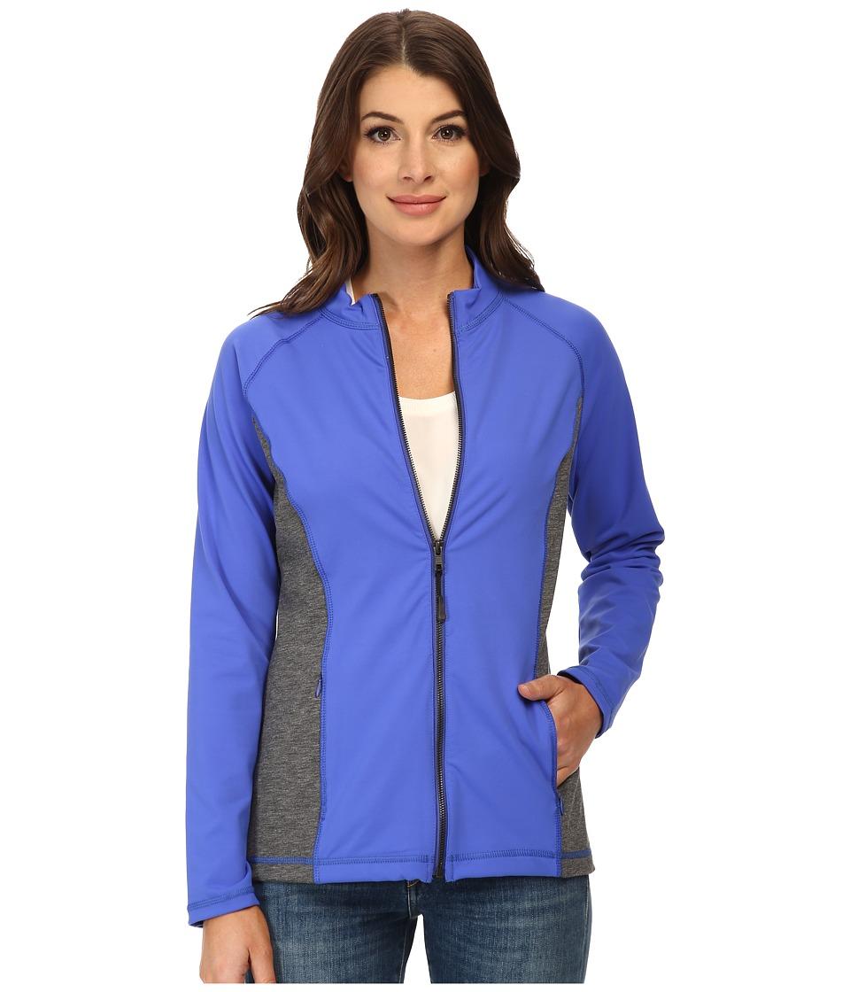 NYDJ - City/Sport Zip Trainer Jacket (Ultramarine w/ Heather) Women's Coat