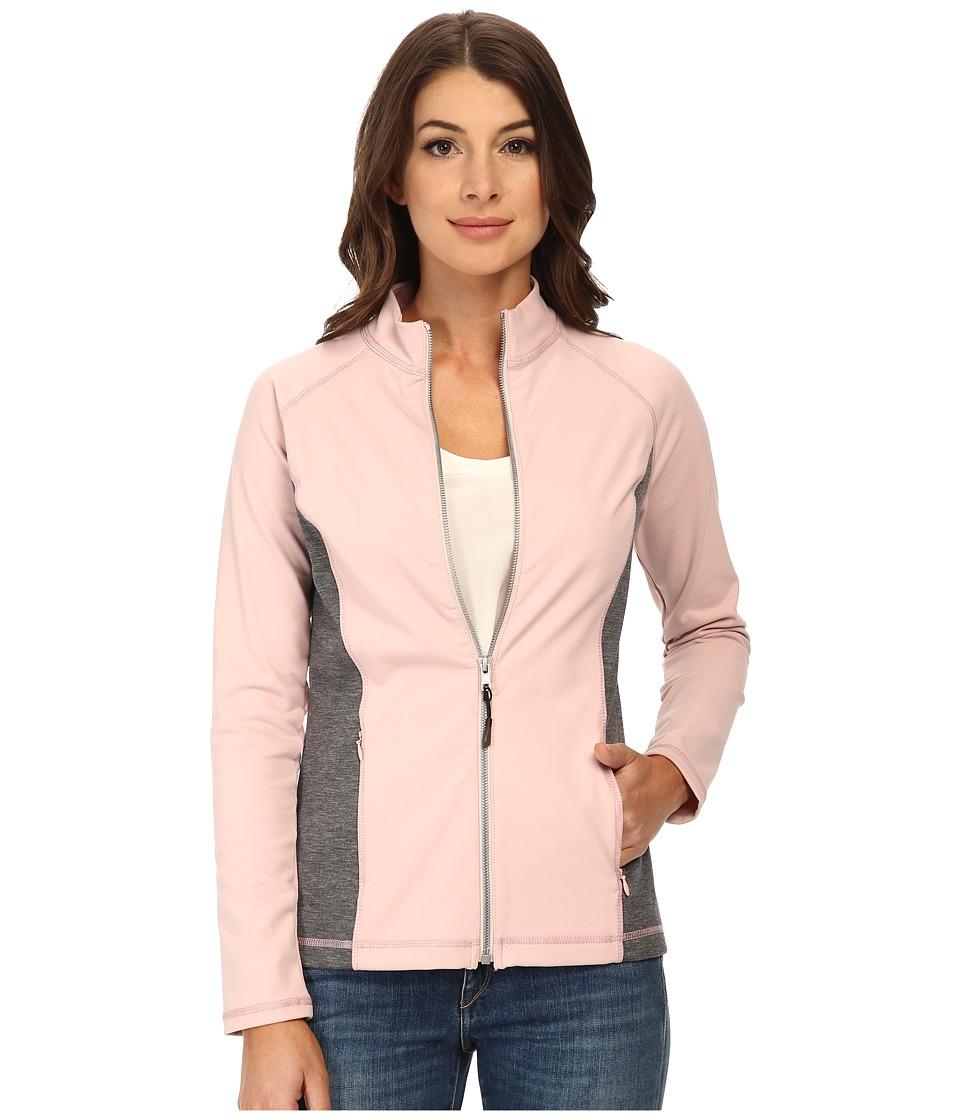 NYDJ - City/Sport Zip Trainer Jacket (Lotus w/ Heather Grey) Women's Coat