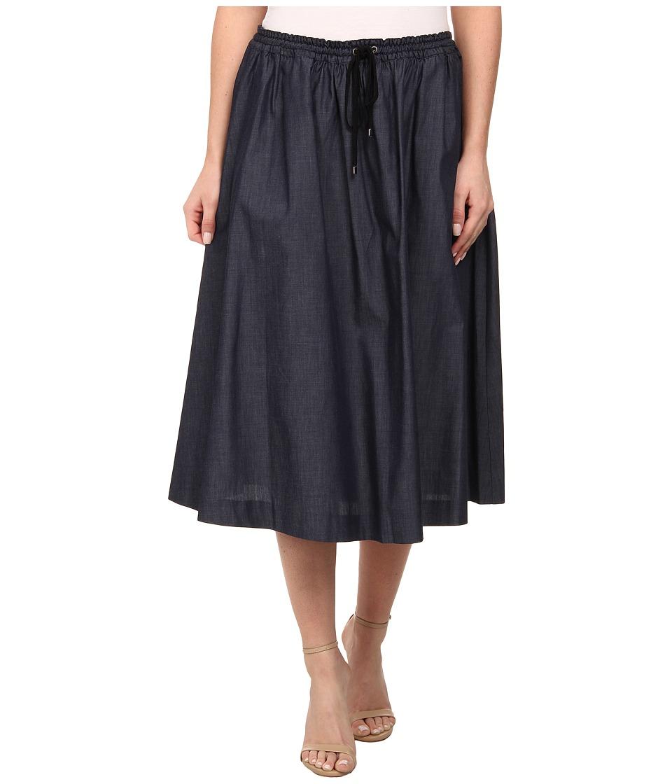 Adrianna Papell - Flare Skirt w/ Drawstring (Midnight Blue) Women