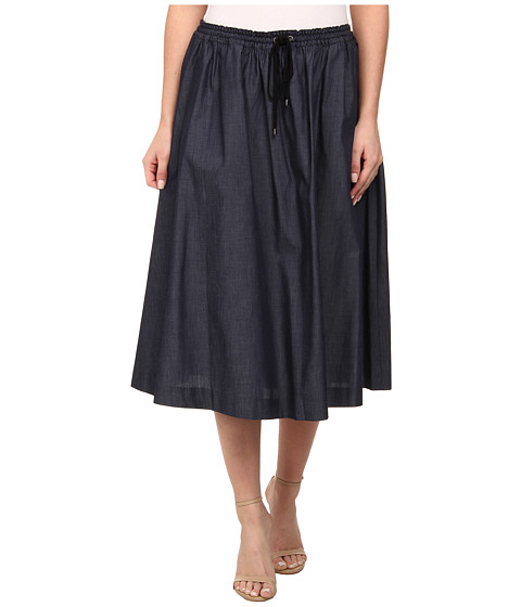 Adrianna Papell - Flare Skirt w/ Drawstring (Midnight Blue) Women