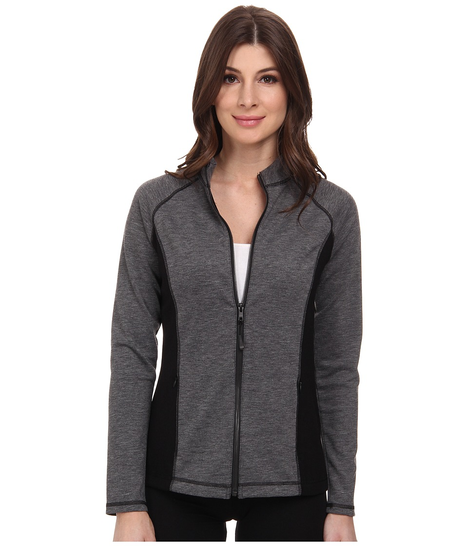 NYDJ - City/Sport Zip Trainer Jacket (Dark Heathered Grey) Women's Coat