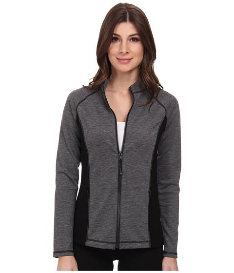 NYDJ - City/Sport Zip Trainer Jacket (Dark Heathered Grey) Women