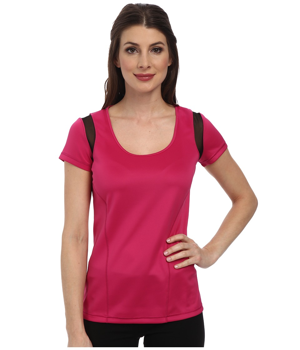 NYDJ - City/Sport Athletic Tee w/ Mesh (Sport Pink) Women