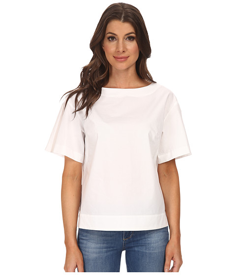 Adrianna Papell - Drop Shoulder Flutter Sleeve Top (White) Women's Blouse