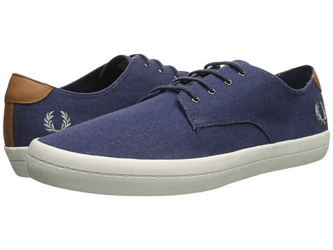 Fred Perry - Savitt Printed Canvas (Carbon Blue) Men's Shoes