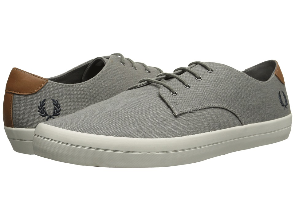 Fred Perry - Savitt Printed Canvas (Mid Grey) Men's Shoes