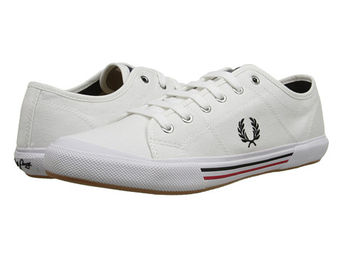 Fred Perry - Vintage Tennis Canvas (White) Men's Lace up casual Shoes