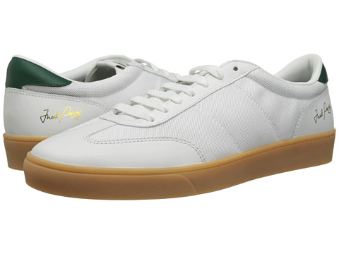 Fred Perry - Umpire Mesh/Leather (White) Men's Shoes