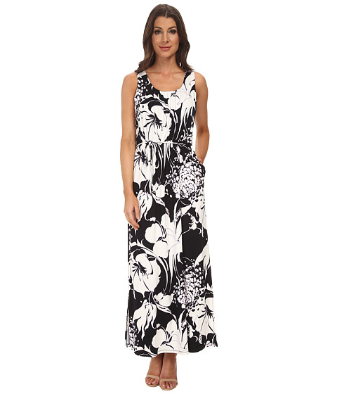 Adrianna Papell - Scoop Neck Maxi Dress (Navy/Ivory) Women