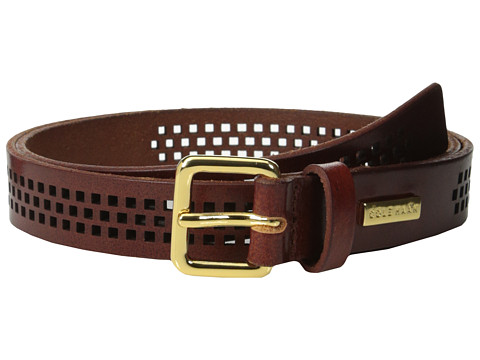 Cole Haan - 25mm Oil Vachetta Panel (Acorn) Women's Belts