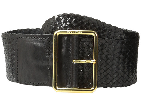 Cole Haan - 63mm Woven Goat Braid (Black) Women's Belts