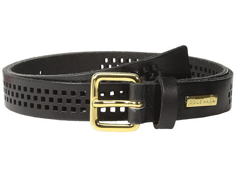 Cole Haan - 25mm Oil Vachetta Panel (Black) Women's Belts