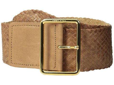 Cole Haan - 63mm Woven Goat Braid (Sandstone) Women's Belts