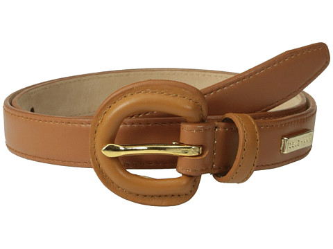 Cole Haan - 23mm Dress Calf Panel w/ Covered Buckle (Tan) Women's Belts