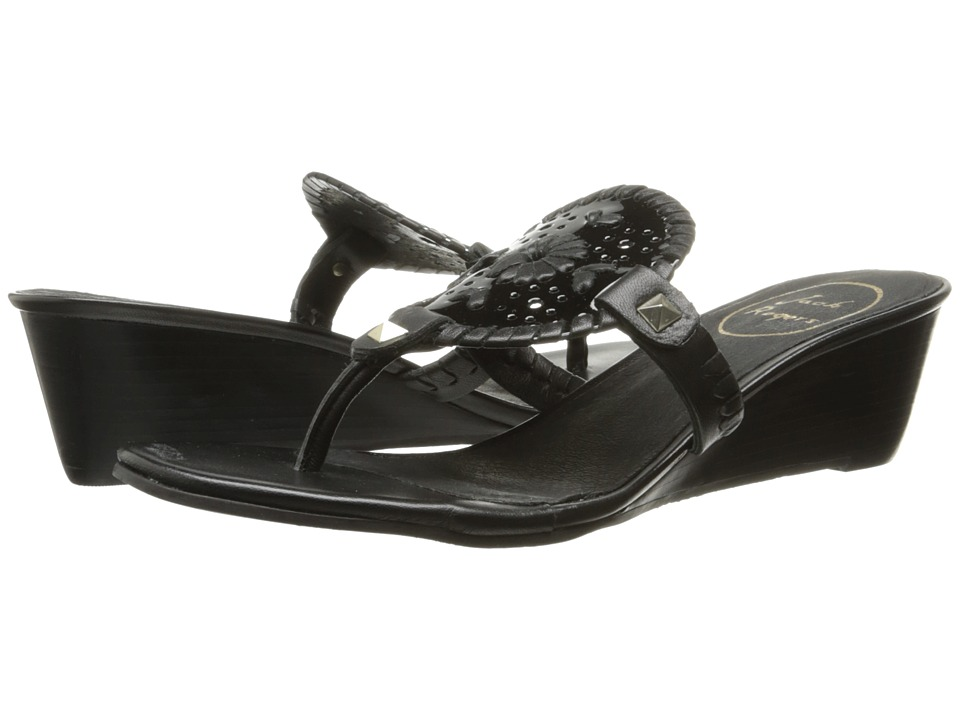 Jack Rogers - Devyn (Black Patent) Women's Shoes