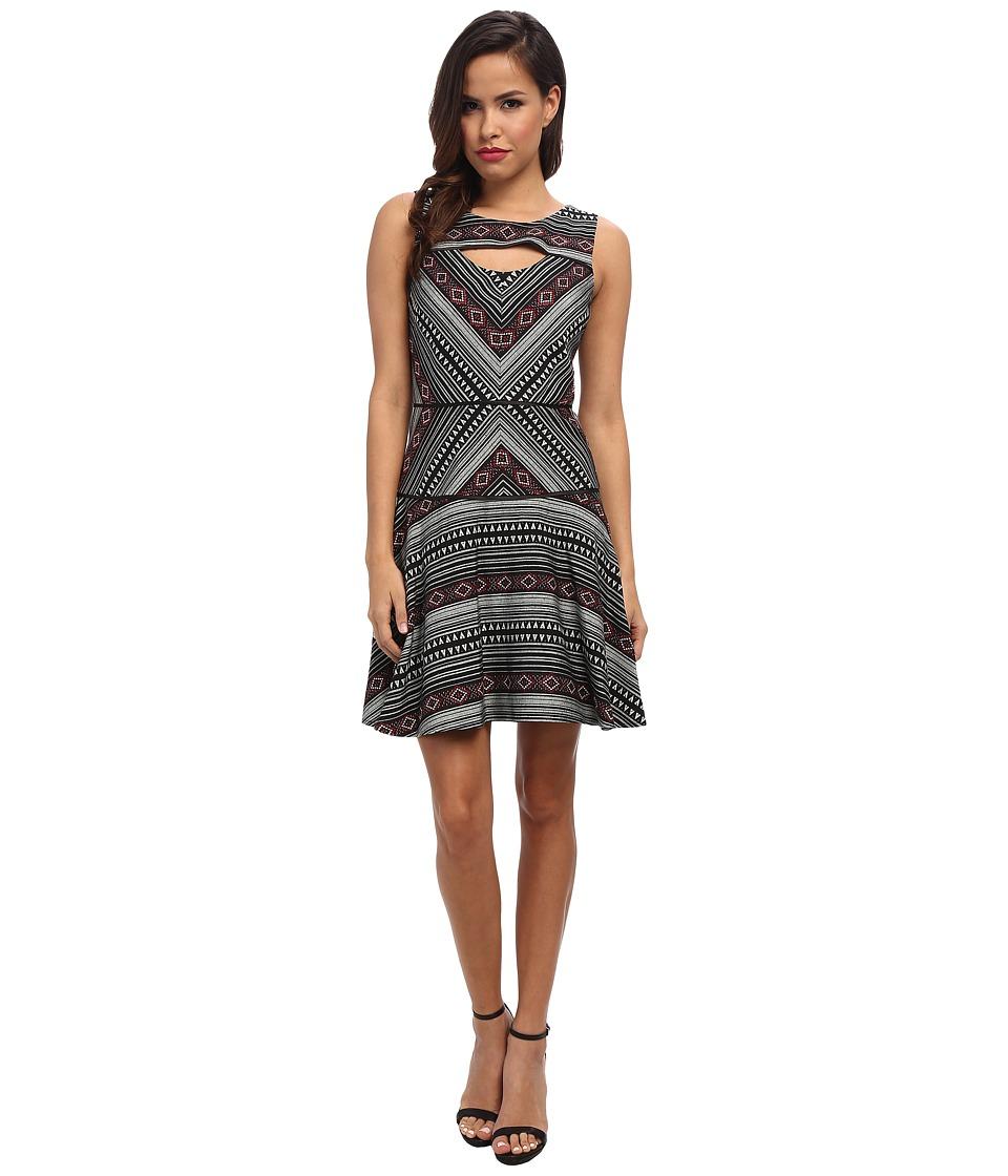 Jessica Simpson - Jacquard Printed Dress (Print) Women's Dress