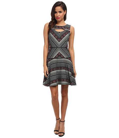Jessica Simpson - Jacquard Printed Dress (Print) Women