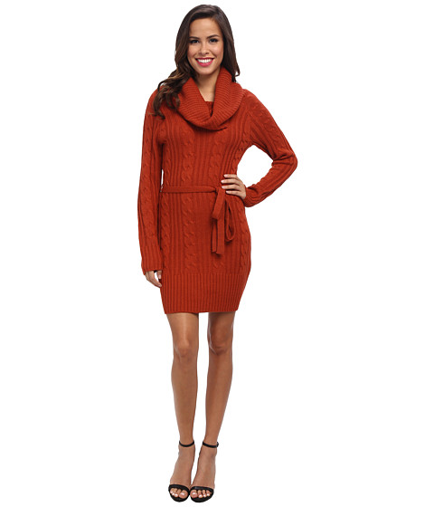 Jessica Simpson - Cowl Neck Sweater Dress (Ketchup) Women's Dress