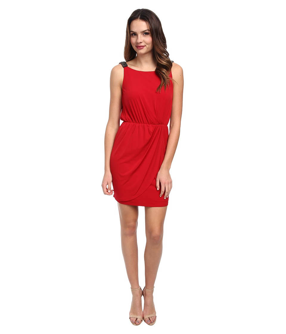Jessica Simpson - Ity Beaded Strap and Low Back (Tango Red) Women's Dress