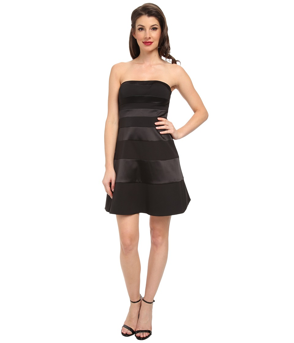 Jessica Simpson - Strapless Fit and Flare Panel Dress (Black) Women's Dress