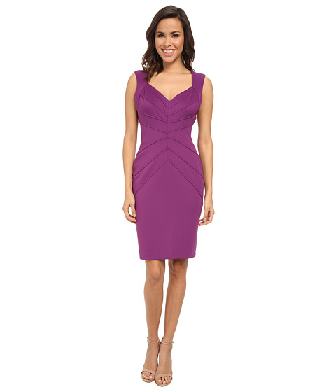 Jessica Simpson - Scuba Cap Sleeve Dress (Purple) Women's Dress