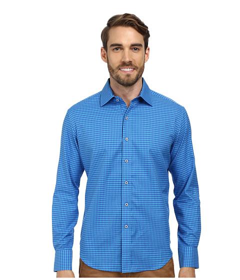 Robert Graham - Motor Boat Tailored Fit Long Sleeve Woven Sport Shirt (Teal) Men
