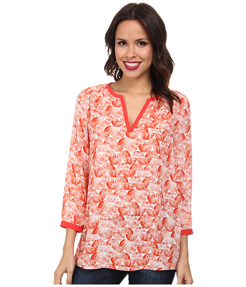 NYDJ - Graphic Ric Rac Printed Tunic (Cerise) Women's Blouse