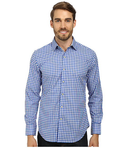 Robert Graham - Craft L/S Woven (Blue) Men's Long Sleeve Button Up