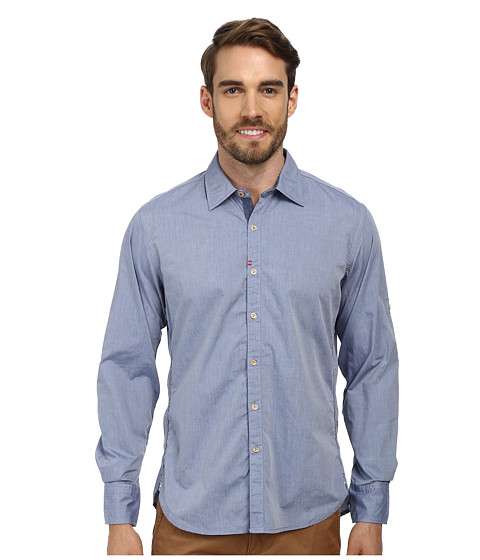 Robert Graham - Coconut Grove Tailored Fit Long Sleeve Woven Sport Shirt (Indigo) Men