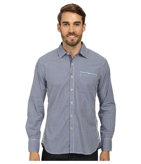 Robert Graham - Kamehameha Tailored Fit Long Sleeve Woven Sport Shirt (Navy) Men's Long Sleeve Button Up