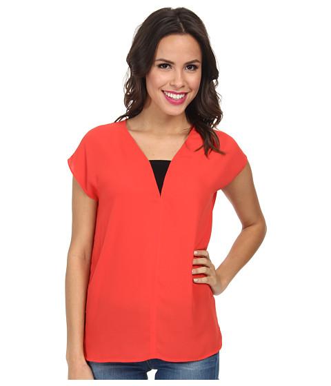 NYDJ - Mesh Insert Top (Cerise) Women's T Shirt
