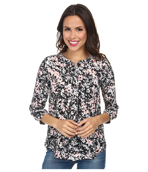 NYDJ - 3/4 Sleeve Pleat Back (Secret Garden) Women's Blouse
