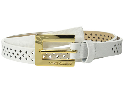 Vince Camuto - 20mm Saffiano Panel w/ Mini Diamond Perf (White) Women's Belts