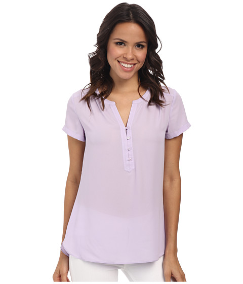 NYDJ - Pop Over Blouse (Lilac Frost) Women's Blouse