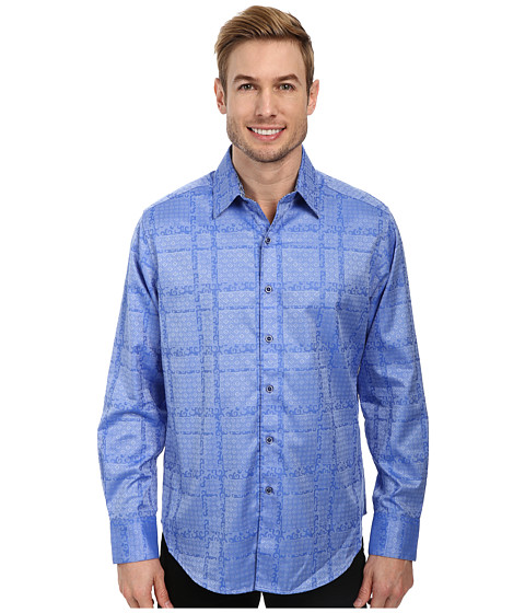 Robert Graham - Suarez L/S Sport Shirt (Light Blue) Men's Long Sleeve Button Up