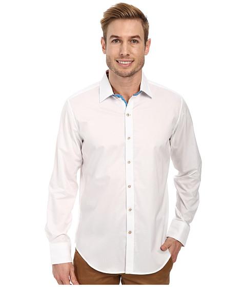 Robert Graham - X Tailored Fit Houseboat Long Sleeve Woven Sport Shirt (White) Men