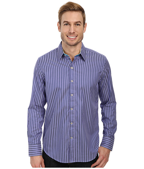 Robert Graham - X Tailored Fit SS Minnow Long Sleeve Woven Sport Shirt (Eggplant) Men