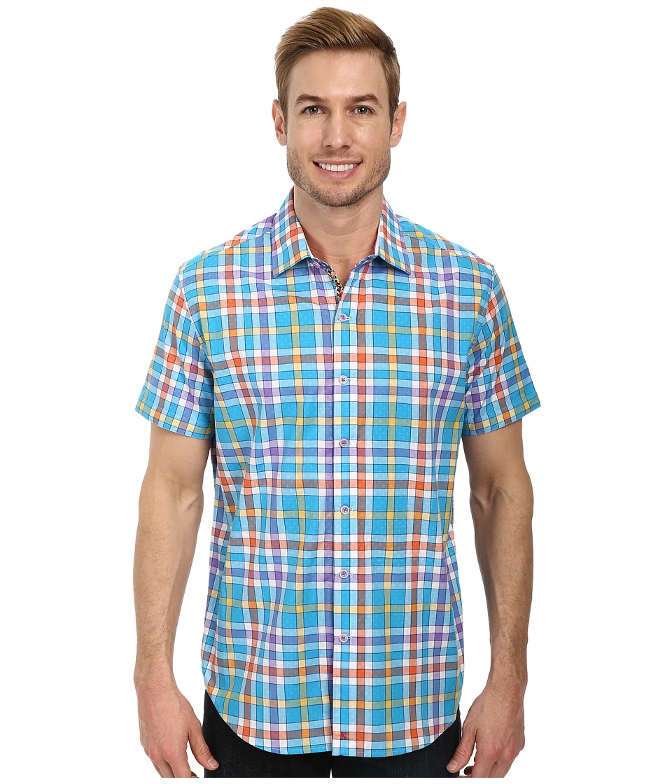 Robert Graham - X Tailored Fit S/S Sport Shirt (Aqua) Men