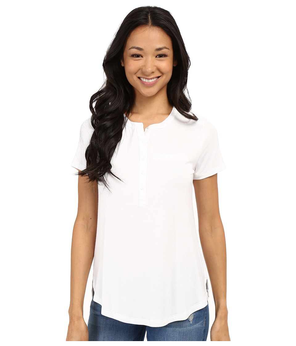 NYDJ - Pleat Back Knit Top (Optic White) Women's T Shirt