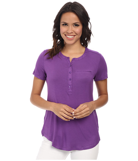 NYDJ - Pleat Back Knit Top (Deep Violet) Women's T Shirt