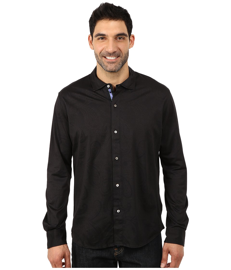 Robert Graham - Hook L/S Knit Shirt (Black) Men's Long Sleeve Pullover