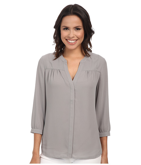 NYDJ - Shirred Blouse (Durango) Women's Blouse