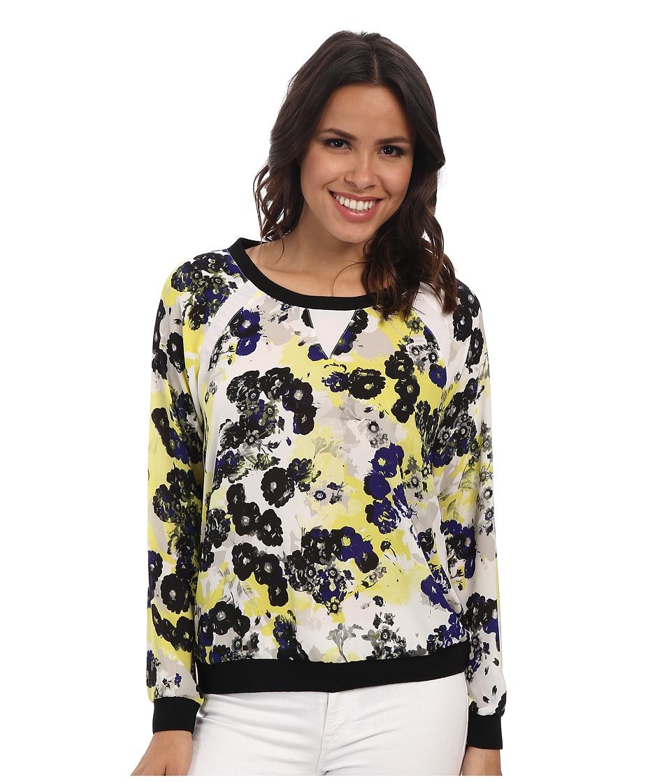 NYDJ - Sunny Floral Sweatshirt (Limon Multi) Women's Sweatshirt