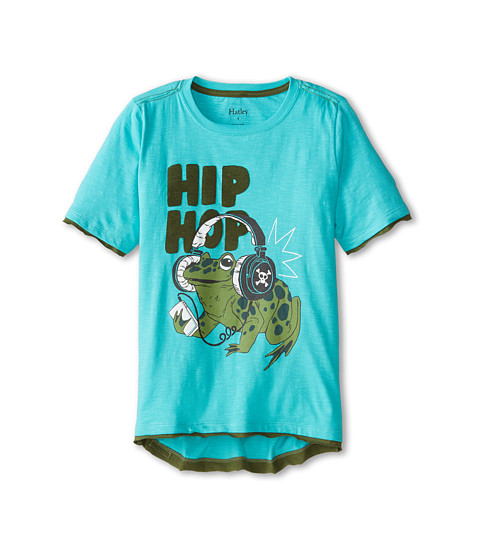 Hatley Kids - Hip Hop Frog Graphic Tee (Toddler/Little Kids/Big Kids) (Aqua) Boy's T Shirt
