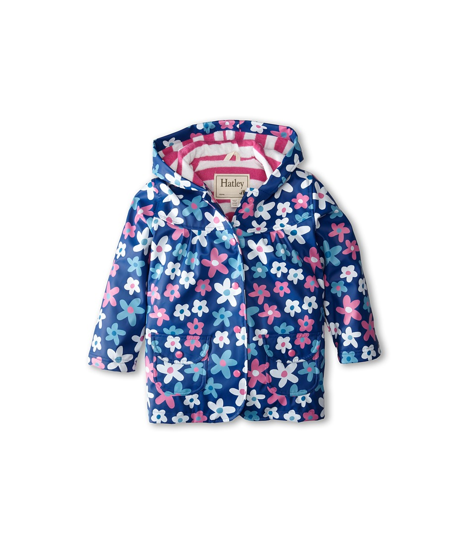 Hatley Kids - Summer Garden Raincoat (Toddler/Little Kids/Big Kids) (Purple) Girl's Coat