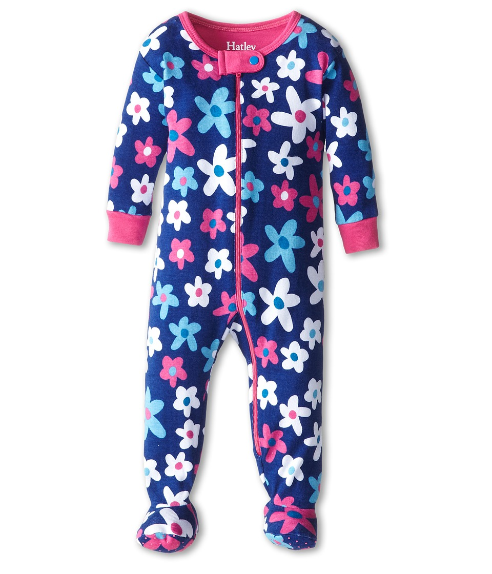 Hatley Kids - Summer Garden Footed Coverall (Infant) (Purple) Girl