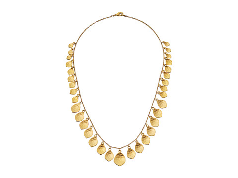 LAUREN by Ralph Lauren - 18 Graduated Shaky Hammered Teardrop Necklace (Worn Gold) Necklace