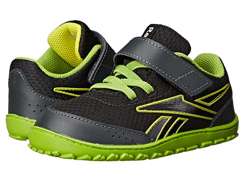 Reebok Kids - VentureFlex Stride II (Infant/Toddler) (Black/Gravel/Stinger Yellow/Ultra Lime/White) Boys Shoes