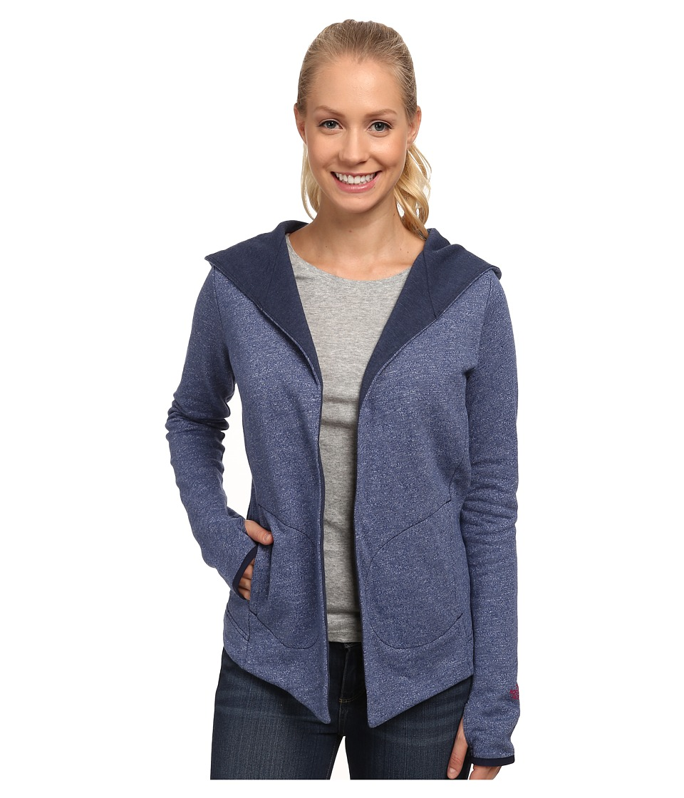 The North Face - Harmony Park Wrap (Cosmic Blue Heather) Women's Long Sleeve Pullover