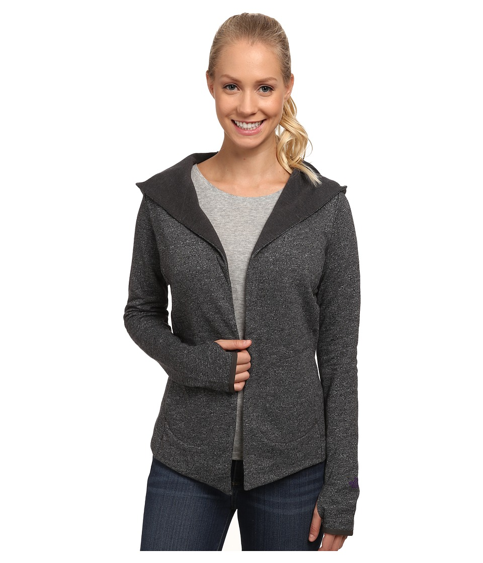 The North Face - Harmony Park Wrap (Charcoal Grey Heather) Women's Long Sleeve Pullover